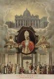 Vecchia stampa Pio XI Fotografia Stock Libera da Diritti