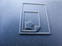 VECCHIA stampante Fotografia Stock