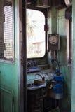 Vecchia stanza del controle del treno Fotografie Stock Libere da Diritti