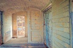 Vecchia stanza del frammento sul treno Immagine Stock