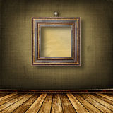 Vecchia stanza, interiore del grunge con i blocchi per grafici Fotografie Stock
