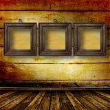 Vecchia stanza, interiore del grunge con i blocchi per grafici Fotografia Stock
