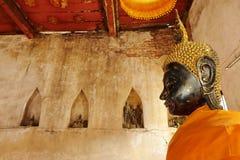 Vecchia statua Buddha Fotografia Stock