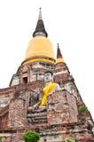 Vecchia statua del Buddha Fotografie Stock Libere da Diritti