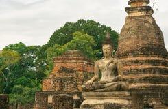 Vecchia statua del buddha in Tailandia Fotografia Stock
