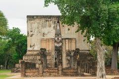 Vecchia statua del buddha in Tailandia Fotografie Stock