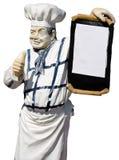 Vecchia statua del cuoco Fotografia Stock