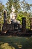 Vecchia statua di Buddha nel parco storico di Sukhothai Immagini Stock Libere da Diritti