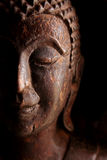 Vecchia statua di legno di Buddha Fotografia Stock Libera da Diritti