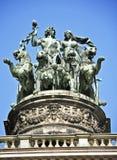 Vecchia statua a Dresda Immagini Stock