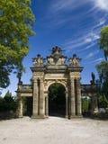 Vecchia statua portale sulla collina di Gothard in città Horice Immagine Stock Libera da Diritti