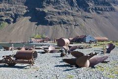 Vecchia stazione della balena in Georgia del sud Fotografia Stock Libera da Diritti