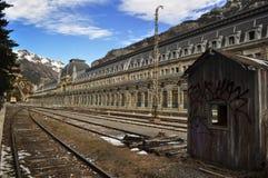 Vecchia stazione di Canfranc Fotografia Stock Libera da Diritti