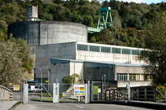 Vecchia stazione di forza idroelettrica Immagini Stock