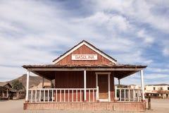Vecchia stazione di servizio abbandonata Fotografie Stock