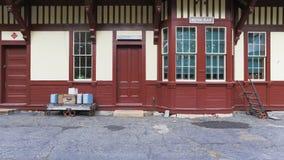 Vecchia stazione ferroviaria Fotografie Stock
