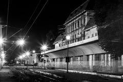 Vecchia stazione ferroviaria abbandonata Fotografia Stock Libera da Diritti