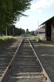 Vecchia stazione ferroviaria americana della città Fotografie Stock