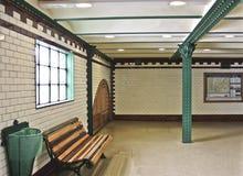 Vecchia stazione ferroviaria a Budapest Fotografie Stock Libere da Diritti