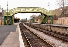 Vecchia stazione ferroviaria a Corfe Fotografie Stock Libere da Diritti