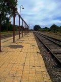 Vecchia stazione ferroviaria nel sud del Cile Fotografia Stock Libera da Diritti