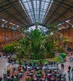 Vecchia stazione ferroviaria spagnola Fotografia Stock