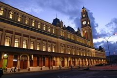 Vecchia stazione a Sao Paulo, Brasile Immagine Stock