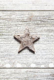 Vecchia stella grungy di natale Fotografia Stock Libera da Diritti