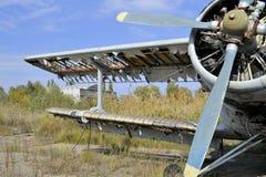 Vecchia storia URSS An2 Antonov dell'aeroplano fotografia stock