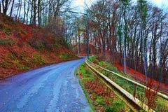Vecchia strada alla montagna Immagine Stock