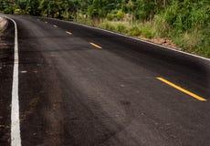 Vecchia strada cementata asfaltica Fotografie Stock Libere da Diritti