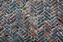 Vecchia strada dei cobblestones Fotografia Stock Libera da Diritti