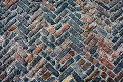 Vecchia strada dei cobblestones Fotografia Stock