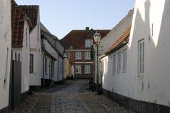Vecchia strada del cobblestone fotografia stock
