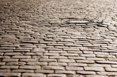 Vecchia strada del cobblestone immagine stock libera da diritti