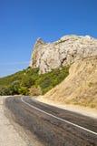 Vecchia strada della montagna Immagini Stock Libere da Diritti