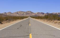 Vecchia strada principale della traccia dello Spagnolo, Nevada, U.S.A. fotografia stock libera da diritti