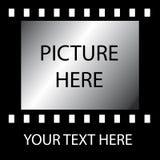 Vecchia striscia della pellicola Fotografie Stock