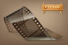 Vecchia striscia di pellicola con la trasparenza, icona di vettore illustrazione di stock