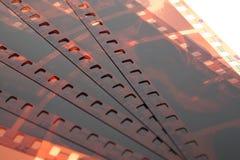 Vecchia striscia di pellicola della negazione 35mm su fondo bianco Fotografia Stock Libera da Diritti