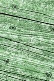 Vecchia struttura annodata incrinata stagionata di lerciume di Kelly Green Pine Wood Floorboards immagine stock