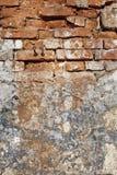 Vecchia struttura approssimativa di lerciume del muro di mattoni Fotografia Stock