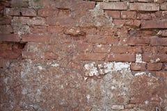 Vecchia struttura approssimativa di lerciume del muro di mattoni Fotografie Stock Libere da Diritti