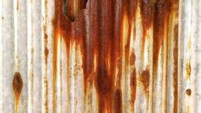 Vecchia struttura arrugginita della parete dello zinco Fotografia Stock Libera da Diritti