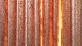 Vecchia struttura arrugginita della parete dello zinco Immagine Stock Libera da Diritti