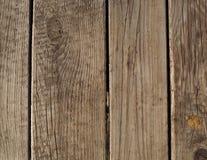 Vecchia struttura beige verticale della plancia - vecchio fondo di legno fotografia stock