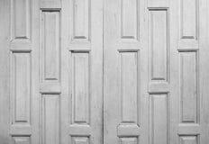 Vecchia struttura bianca di legno del fondo della porta Fotografie Stock