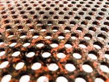 Vecchia struttura d'acciaio arancio della poltiglia del metallo Immagine Stock Libera da Diritti