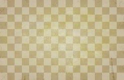 Vecchia struttura d'annata della scacchiera - retro modello di scacchi - fondo d'annata beige Fotografie Stock