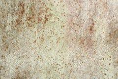 Vecchia struttura del ferro con pittura incrinata Immagini Stock Libere da Diritti